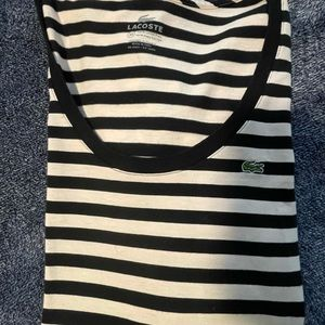 Lacoste black and white stripes size 36